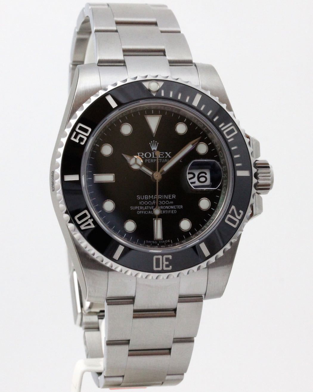 rolex submariner date 116610ln new vendu. Black Bedroom Furniture Sets. Home Design Ideas