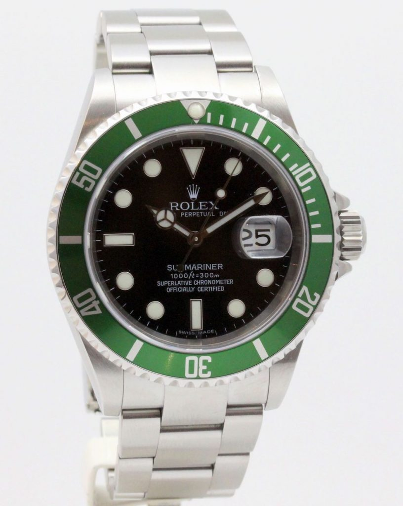 rolex 16610lv 50th anniversary rolex service papers vendu. Black Bedroom Furniture Sets. Home Design Ideas