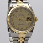 Rolex Datejust 36mm Gold Steel Box + Papers + Service Rolex – *VENDU*